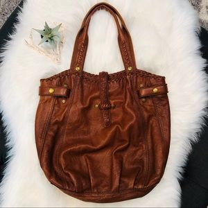 Lucky Brand LARGE Shoulder Boho Bag 100% Leather